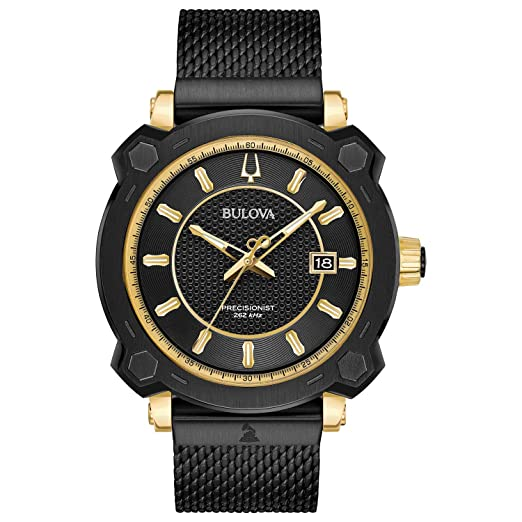 Bulova Precisionist 98B303 - Reloj para Hombre con Esfera Negra: Amazon.es: Relojes