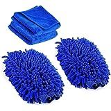 Amison - Guantes de lavado para limpieza de coche, 2 unidades, Premium Ultrasuave, de microfibra, paño de limpieza para…