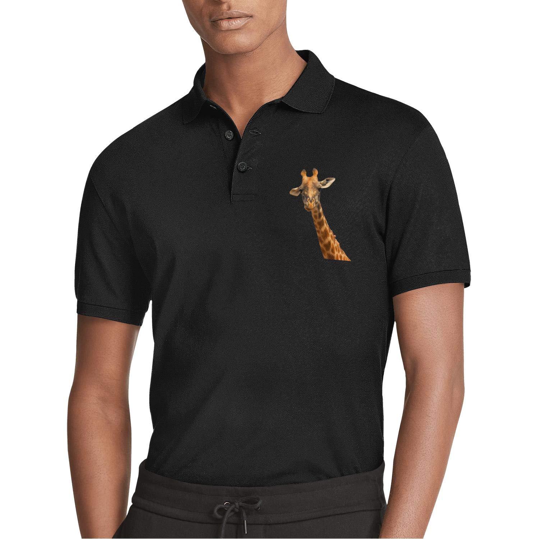 Men Black Short Sleeve Collar Polo Shirt Flying Crow Moon Popular Fashion Tee Tops