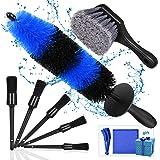 Kohree 9Pcs Wheel Tire Brush Set for Cleaning Wheels, Detail Car Wash Wheel Cleaner Rim Brushes Kit for Washing Tires Vehicle