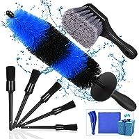 Kohree 9-delige set auto-reinigingskwasten, auto-detailing reinigingsborstelset, autovelgenborstelset…