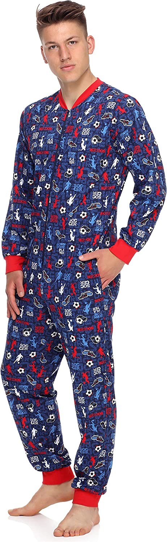 Timone Herren Schlafanzug Strampelanzug Schlafoverall TI30-119