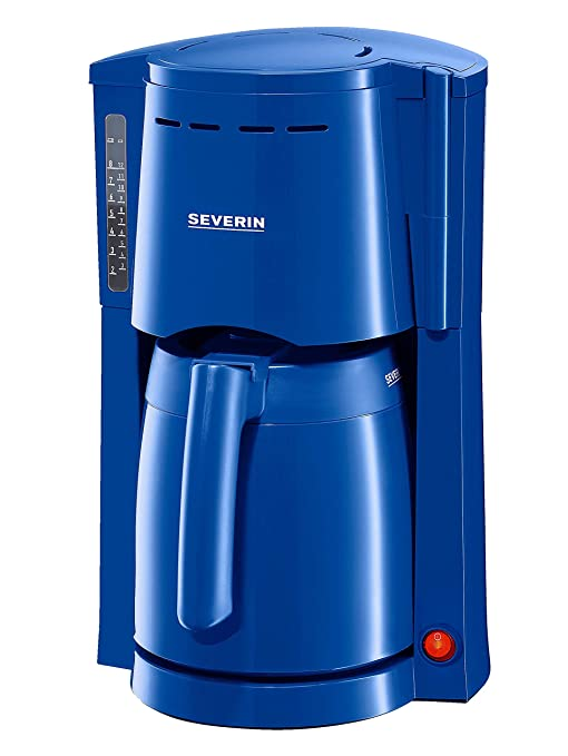 Severin Cafetera 9747 con 2 jarras térmicas azul: Amazon.es: Hogar