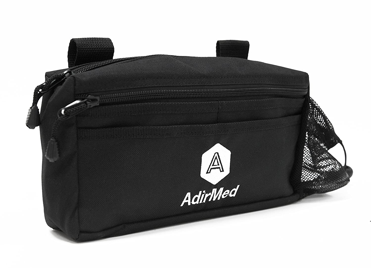 AdirMed Wheelchair Pouch - Rollator Pouch - Walker Pouch - Black