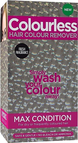 Colourless, removedor de tintura para el cabello.