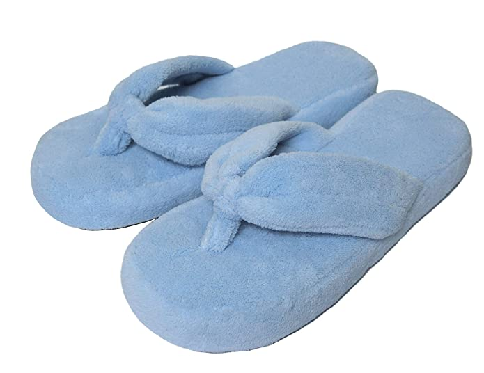 fe1fb2fc59f Onmygogo Coral Fleece Home Flip-Flop Slippers for Women with Non-Slip  Cotton Outsole  Amazon.co.uk  Shoes   Bags