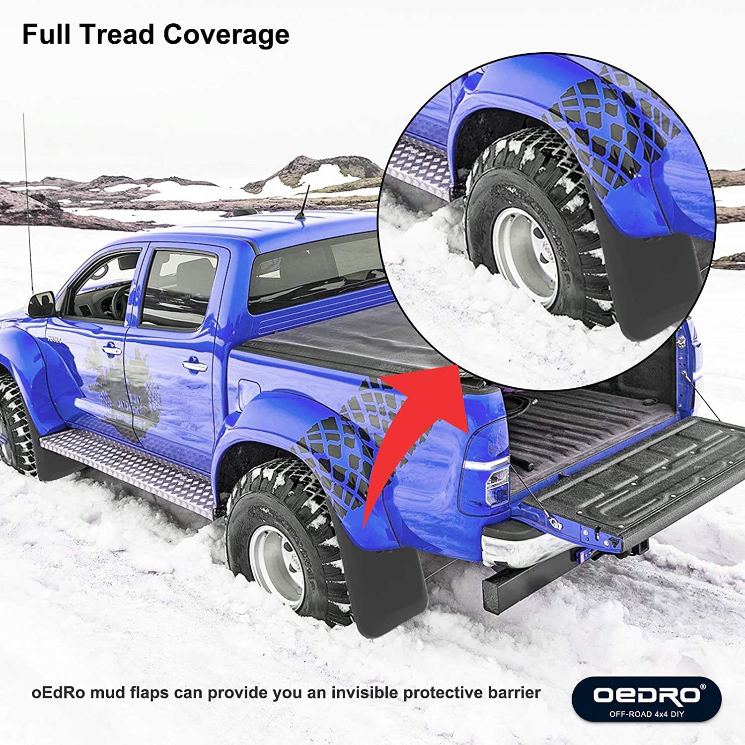 3500 HD Heavy Duty Splash Mud Guards Full Set 4pcs Without OEM Fender Flares Only OEDRO Upgraded Front Rear Mud Flaps Compatible with 2014-2018 Chevy Silverado 1500 /& 2015-2018 2500 HD