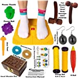 Super India Store Acupressure Mat with Magnets Pyramids for Pain Relief n Total Health + Health Products + 2 Wooden Face Massagers n Small Box