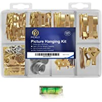 Pickily Premium 225 Piece Picture Hanging Kit, Assorted Picture Hangers Includes Nails, Hanging Wire, Screw Eyes, D Ring…