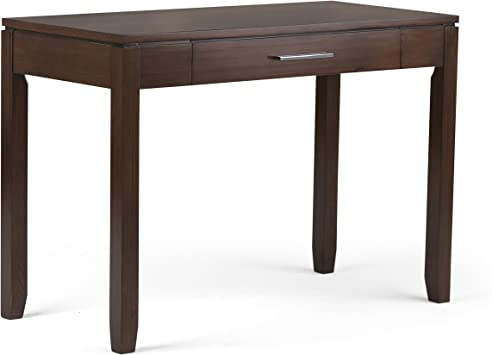 Simpli Home AXCCOS008 Cosmopolitan Solid Wood Contemporary 42 inch Wide  Home Office Desk in Auburn Brown
