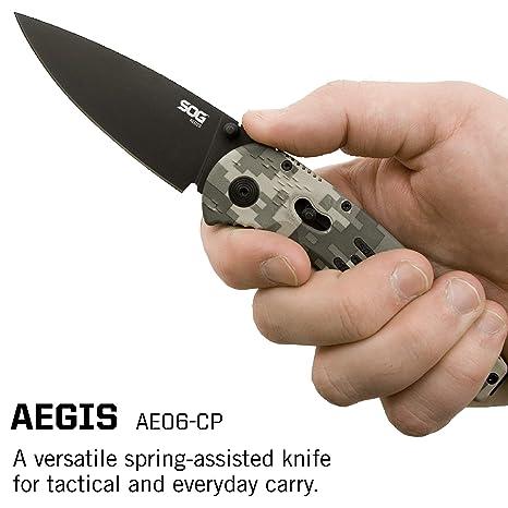 SOG AE06-CP - Cuchillo (87,89 g, 21 cm, Acero, AUS 8 ...