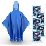 Hagon PRO Disposable Rain Ponchos for Adults (5 Pack) Premium Quality 50% Thicker – 100% Waterproof Emergency Rain…