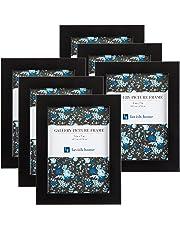 """Lavish Home Juego de Marco de Imagen, Pack para galería fotográfica con Soporte de Pared y Ganchos para Colgar, Juego de 6, Negro, 5"""" x 7"""" (13 cm x 18 cm), 1, 1"""