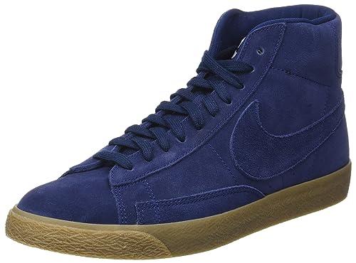 new arrivals 3aee1 4abe2 Nike Blazer Mid Premium, Zapatillas para Hombre, Azul Binary Blue-Gum Lt  Brown, 47 EU Amazon.es Zapatos y complementos