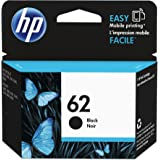 HP 62 Cartouche d'Encre Noir Authentique (C2P04AE)