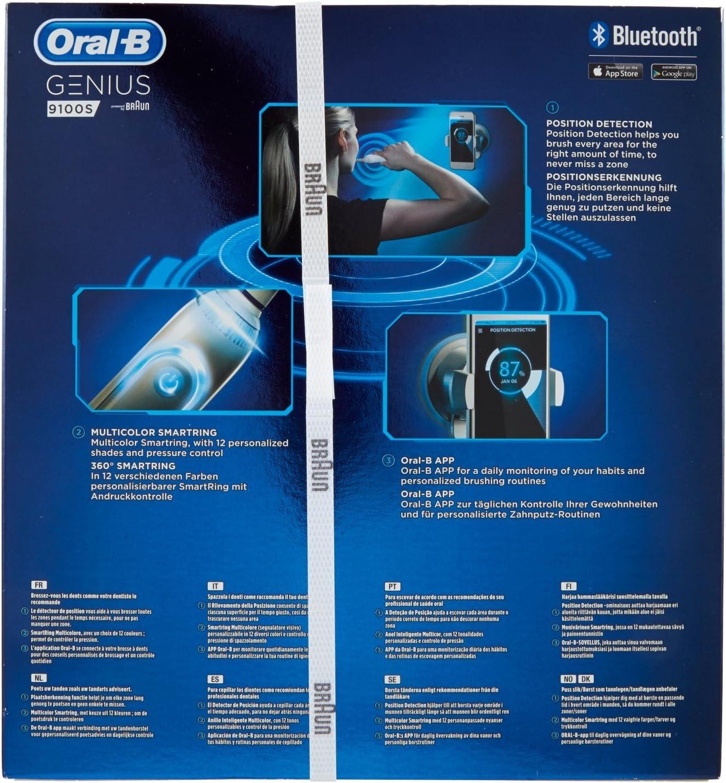 Braun Oral B Genius 9100 S Spazzolino elettrico rotante, Bianco