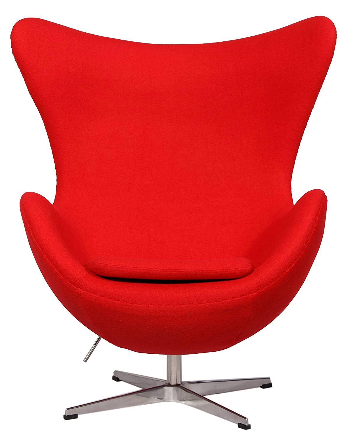 Amazon.com: MLF Arne Jacobsen Egg Chair (5 Colors). Premium Cashmere Wool U0026  Hand Sewing. Adjustable Tilt. High Density Foam. 360176; Swivel, 4 Star  Satin ...