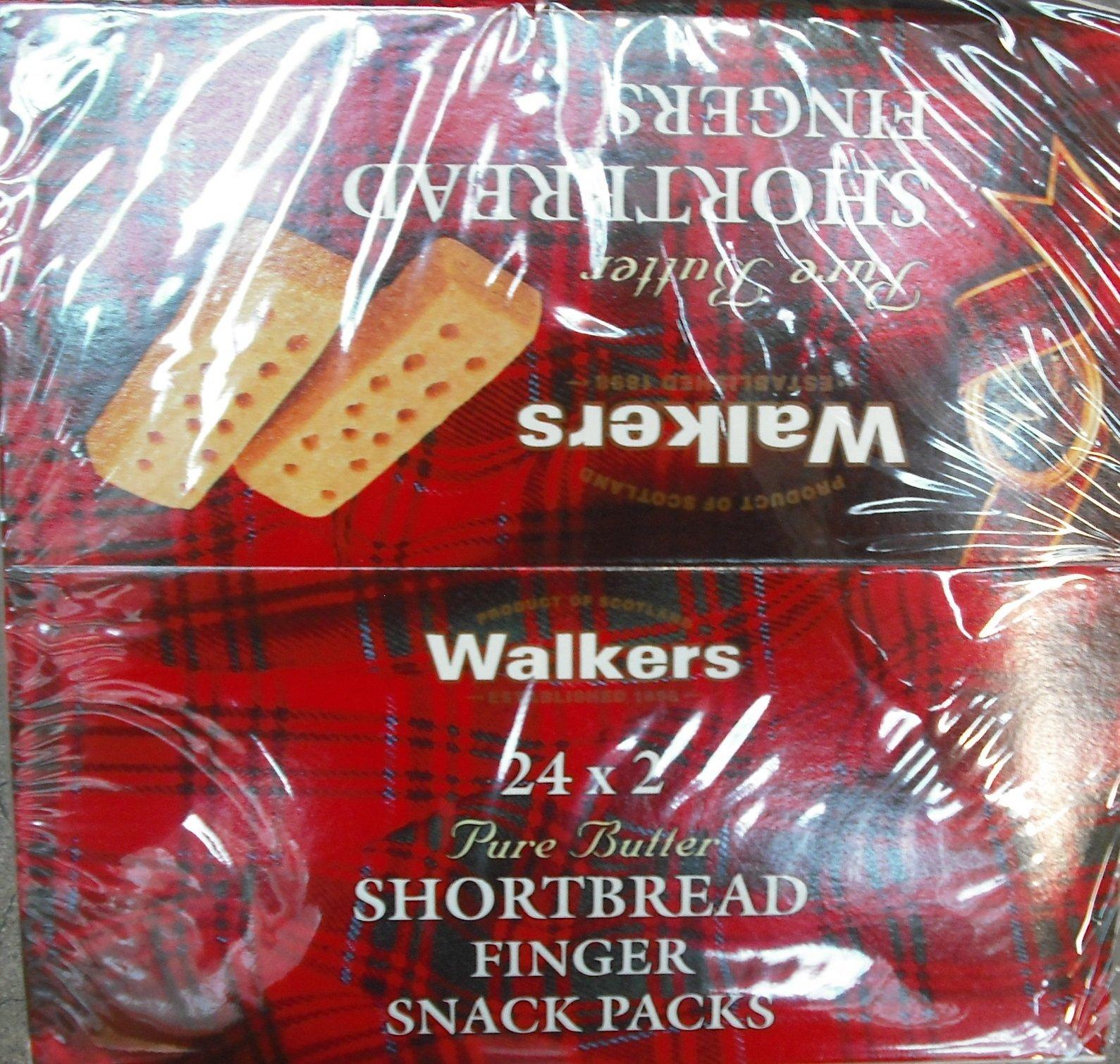 Walkers Fingers Shortbread 3 x 24s
