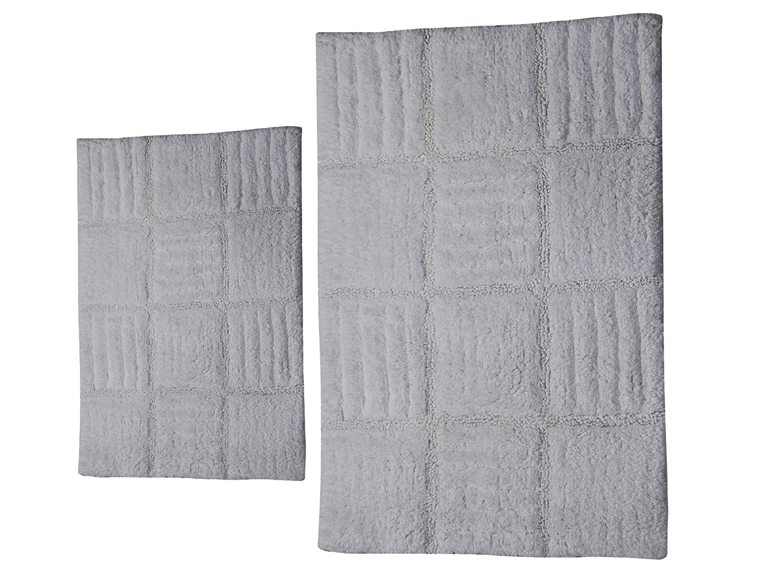 Castle Hill CH-BR-17X24&20X30-CRBRD-2PCS-WH 2-Piece Bath Rug Sets, 17 by 24-Inch/20 by 30-Inch, White