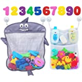 Comfylife Baby Bath Toy Organizer - Shark (2 Bath Toy Storage Nets, 8 Toy Numbers & 10 Strong Hooks) – Great Bath Net…
