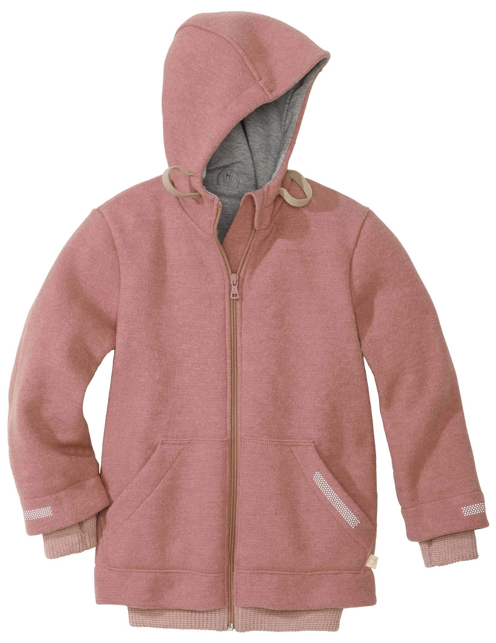 Disana Outdoor Jacket in Rose 100% Organic Merino Wool Made in Germany (110/116, Rose)