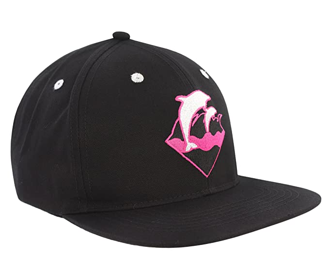 Pink Dolphin Snapback Hat - Waves (Black)  Amazon.ca  Clothing ... f1713d1c247e
