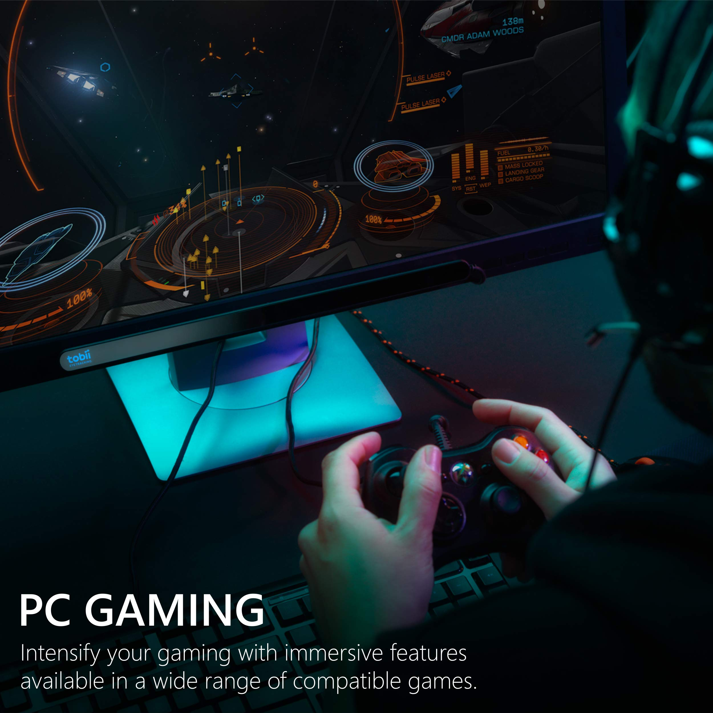 Tobii Eye Tracker 4C - Gaming and Streaming Tool for PC