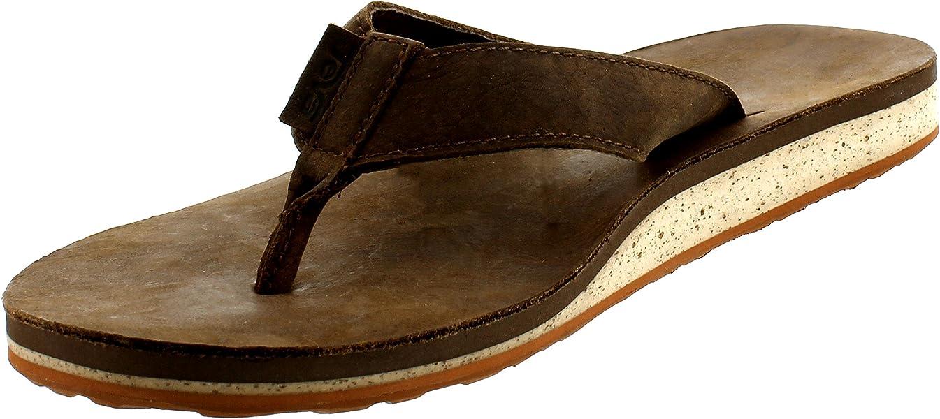 9e01e5030cdb Teva Men s Classic Premium Leather Flip-Flop