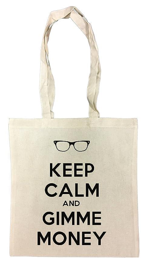 Keep Calm And Gimme Money Bolsa De Compras Playa De Algodón ...