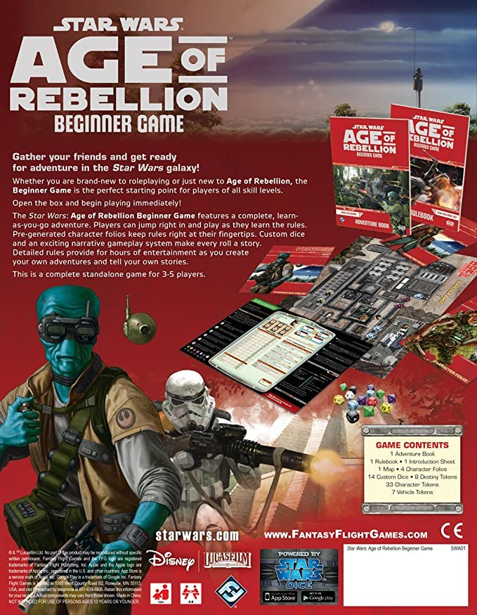 Star Wars: Age of Rebellion RPG Beginner Game: Fantasy Flight Games: Amazon.es: Juguetes y juegos