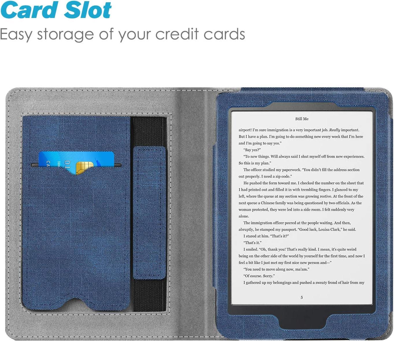 y Case Flip de Carcasa con kwmobile Funda para Kobo Clara HD Soporte Tapa Vertical para e-Book Cuero sint/ético