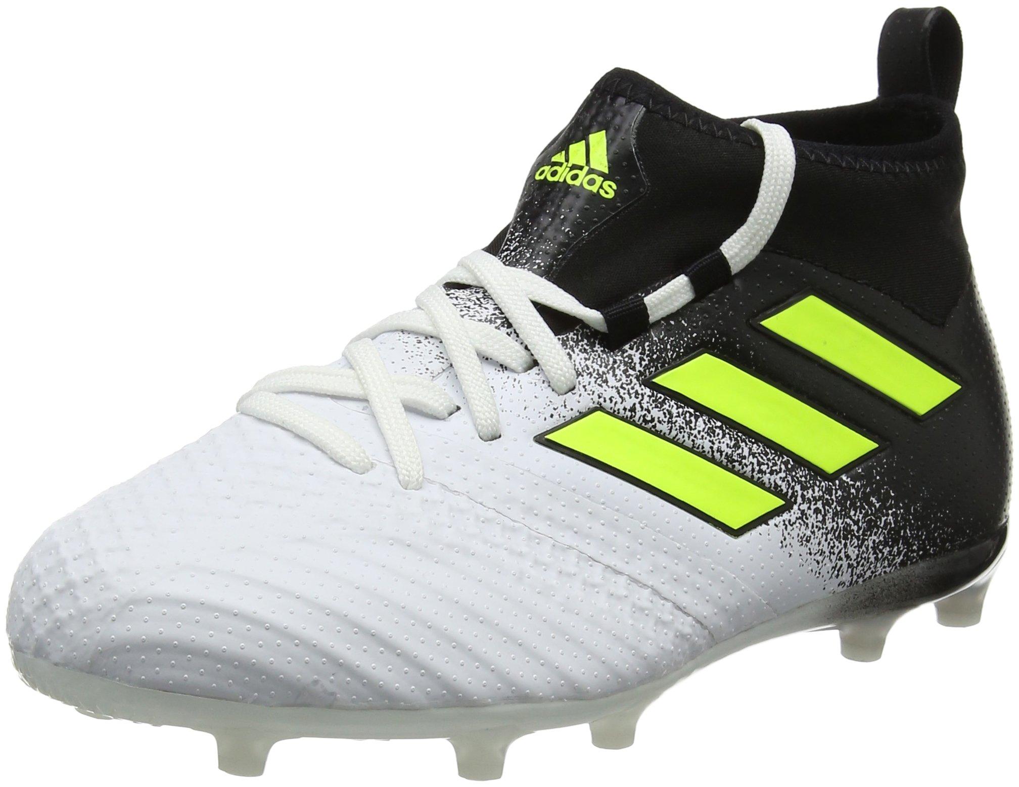 adidas Ace 17.1 FG Junior Football Boots Soccer Cleats (UK 2.5 US 3 EU 35, White Yellow Black S77039)