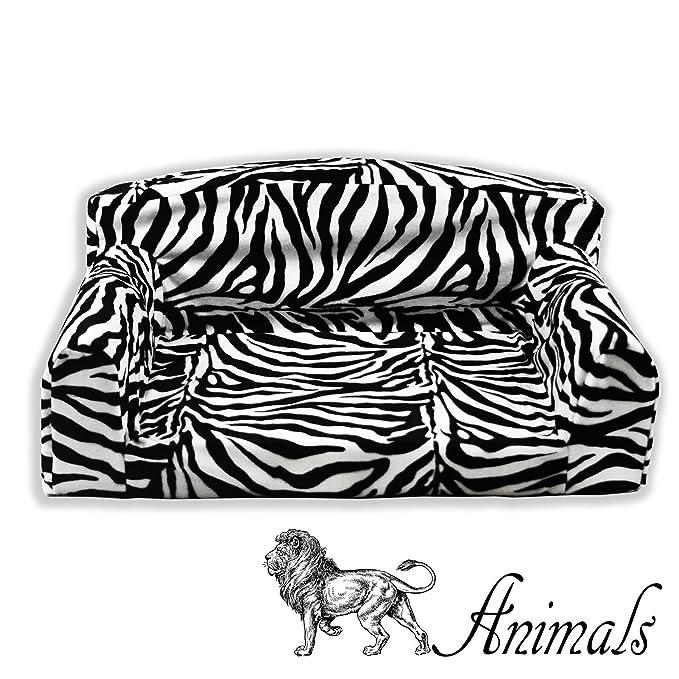 Animal Fibra de Cebra Pet Sofá. 3 Tamaños Perro Cama Material de la Cubierta. Fabricado en Reino Unido: Amazon.es: Productos para mascotas