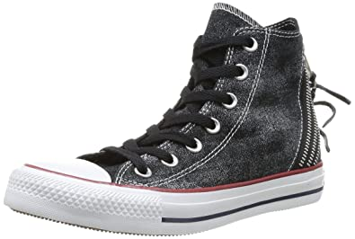 Converse Chuck Taylor All Star Femme Sparkle Wash Tri Zip Hi, Baskets mode femme - Rouge (18 Bordeaux), 36 EU