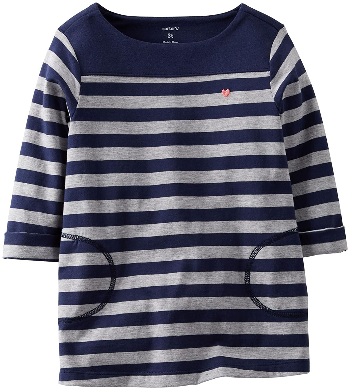 3 Months - Stripe Carters Baby Girls Knit Jersey Tunic Baby