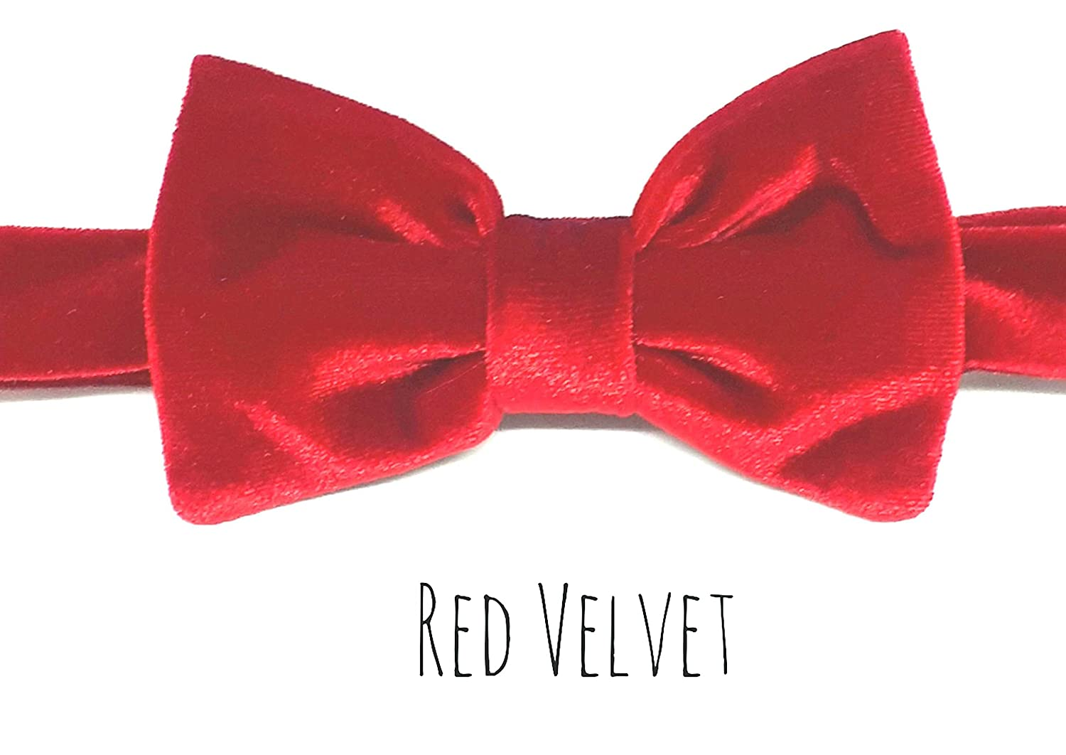 Boys Baby Bowtie Pre-Tied Quality Velvet For Weddings Occasions Adjustable Velcro Fastening UK