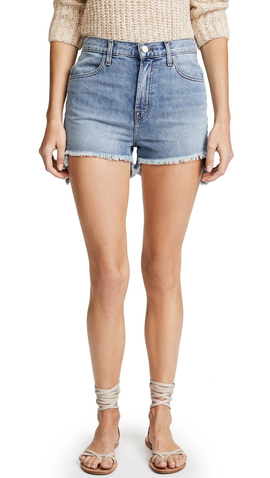 J Brand Women's Joan High Rise Shorts, Hydra, 31