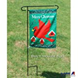 "A-ONE Garden Flag Pole Stand, 40"" H x 16.5"" W Heavy Duty Garden Flag Pole Holder with Garden Flag Stopper and Anti-Wind Clip, Weather-Proof Material Yard Flag Pole Without Flag"