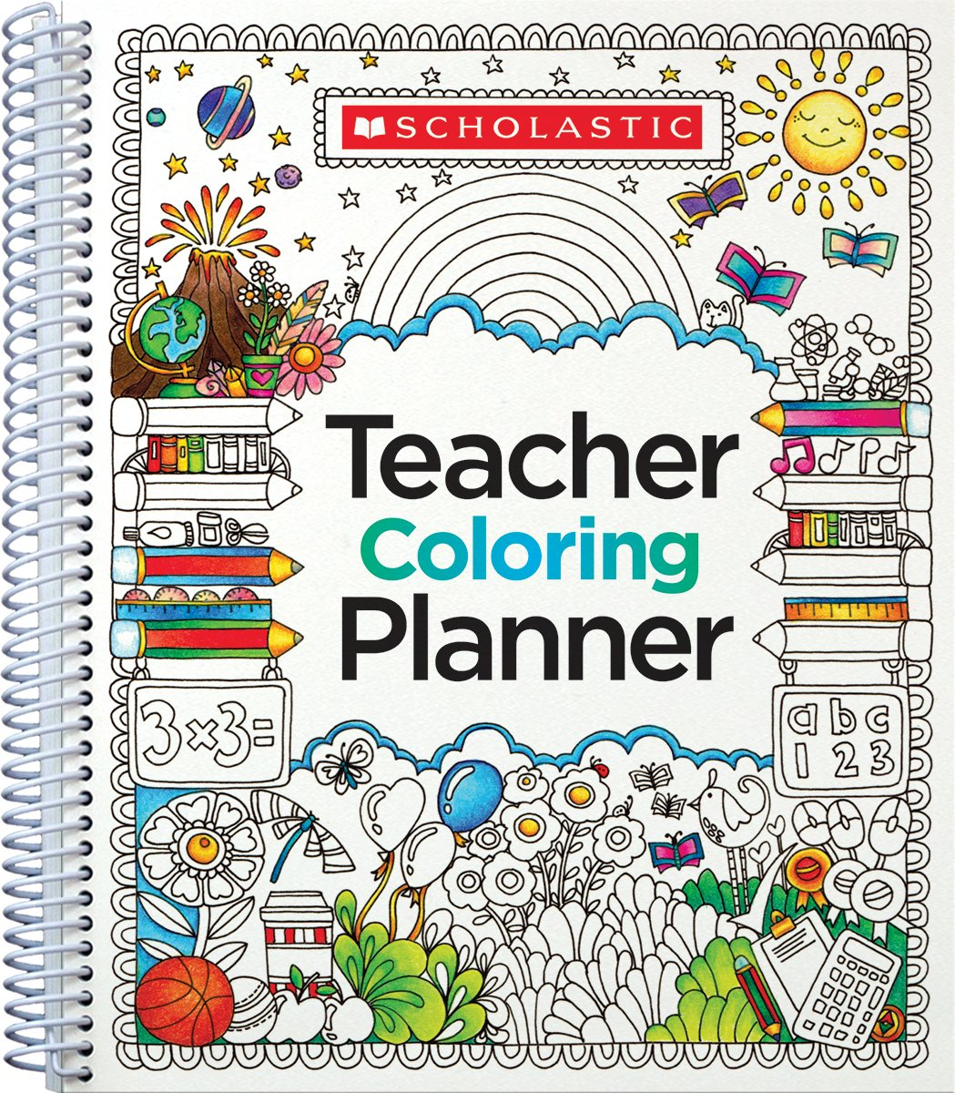 teacher coloring planner scholastic teaching resources