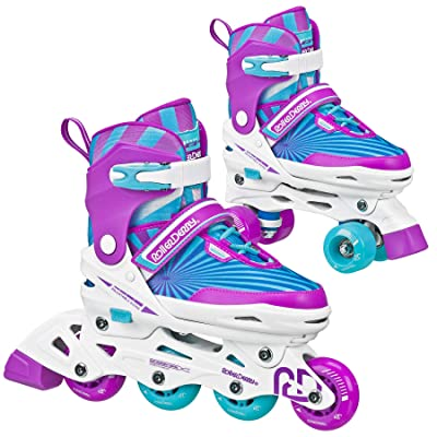 Roller Derby 2N1 Girls Inline and Quad Skate Combo : Sports & Outdoors