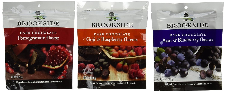 Amazon.com : Brookside Dark Chocolate Variety Pack - 7 oz - 3 pk ...