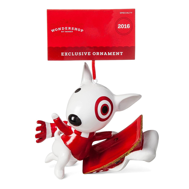 amazoncom target bullseye dog ornament home kitchen - Christmas Ornaments Target