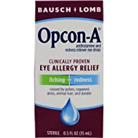 Bausch + Lomb Opcon-A Antihistamine & Redness Reliever Eye Drops, 0.5 Ounces/15 mL (Pack of 3)