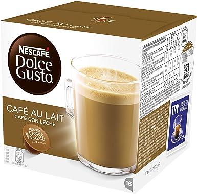 Nescafé Dolce Gusto - Café Con Leche - Cápsulas de café - 16 cápsulas: Amazon.es: Alimentación y bebidas