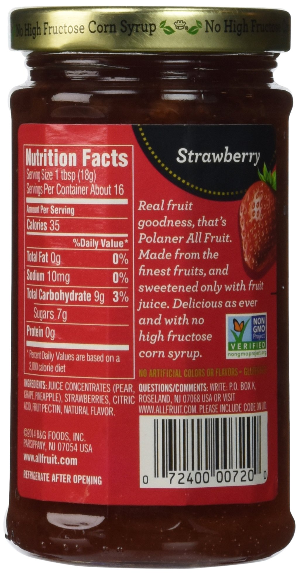 Polaner 100% All Natural Strawberry Fruit Spread 10 oz (Pack of 12) by Polaner All Fruit (Image #4)