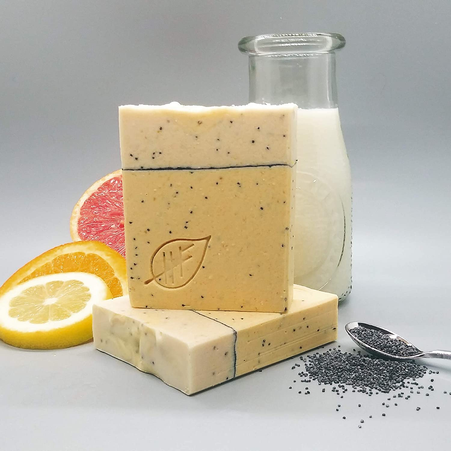 Amazon.com: Citrus Poppy Seed scented Homemade Soap with Goat Milk and  Essential Oils: Handmade