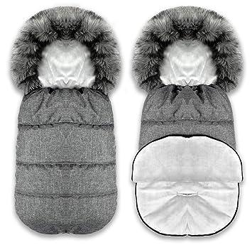 Bluekitty Fußsack Winterfußsack Schlafsack Schlitten Footmuff Kinderwagensack Wasserdicht Wasserabweisend Winter Herbst 90 Cm Baby