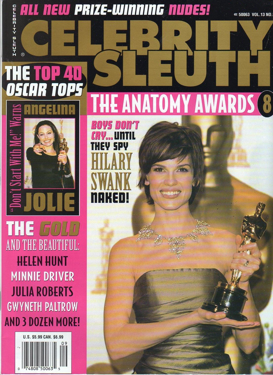 Celebrity Sleuth Vol 13 Number 9 The Anatomy Awards Hilary Swank