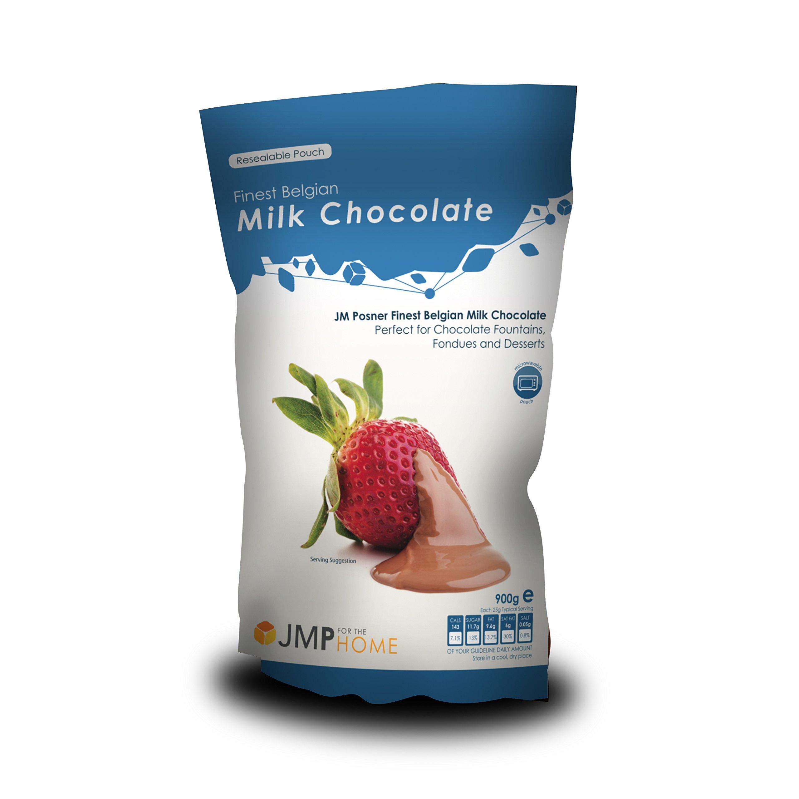 Chocolate con Leche Belga de la Más Alta Calidad, Bolsa de 900g – Apta para Fuentes de Chocolate o Fondues