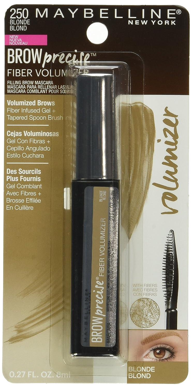 c2f1827eba9 Amazon.com : Maybelline New York Brow Precise Fiber Volumizer Eyebrow  Mascara, Blonde, 0.27 fl. oz. : Beauty